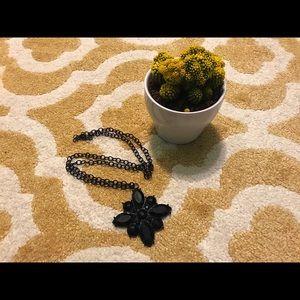 Black Pendant Necklace